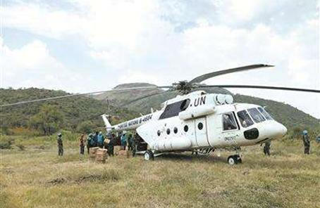 中國赴蘇丹維和直升機分隊完成野外換件試飛任務