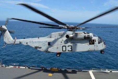 """美""""種馬王""""重型直升機完成海試"""
